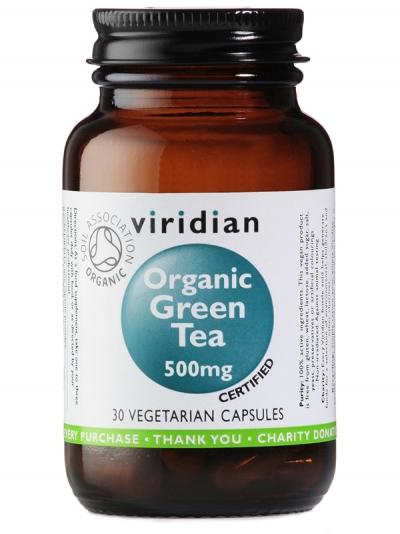 Органичен зелен чай - 30 капсули