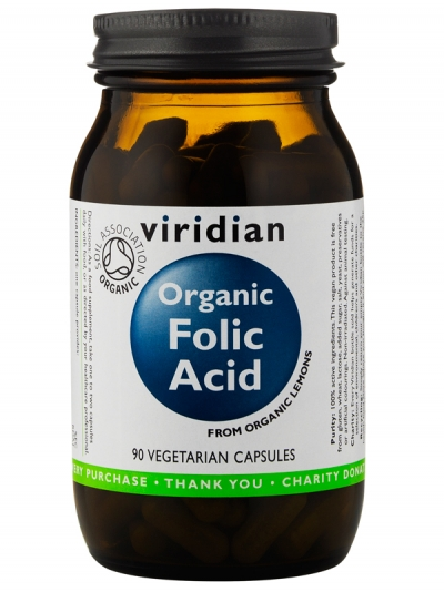 Органична фолиева киселина - 90 капсули
