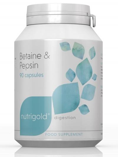 Бетаин и Пепсин – 90 капсули