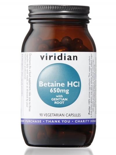 Бетаин HCI с корен от Тинтява - 90 капсули