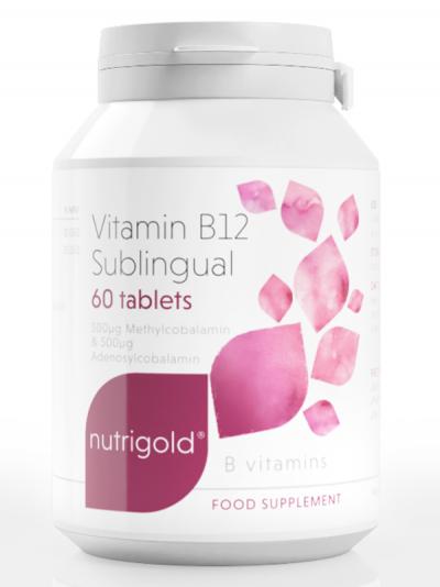 Витамин B12 1000 мкг – подезична форма  (метилкобаламин и аденозилкобаламин) - 60 таблетки