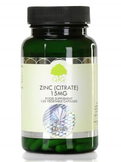 G&G Цинк цитрат 15 мг - 120 капсули
